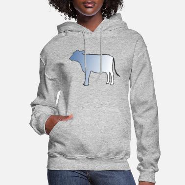 Cow Cut out with Fade - Women's Hoodie