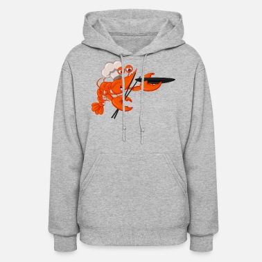Seafood Shrimp cook seafood plankton wildlife lobster cool - Women's Hoodie