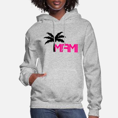 Miami Miami Beach Palm Logo - Women's Hoodie