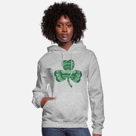 Bostonia Hoodies & Sweatshirts - Bostonia Boston Massachusetts Clothing Apparel Tee - Women's Hoodie heather gray