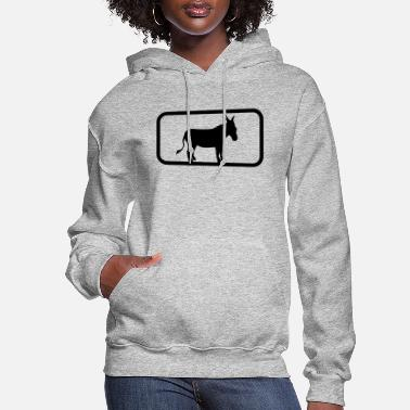 Donkey button sport logo cool donkey horse pony small pac - Women's Hoodie