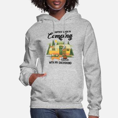 Camping CAMPING WITH MY DACHSHUND - Women's Hoodie