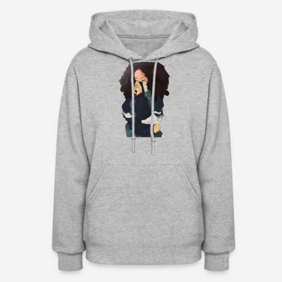 Art Hoodies & Sweatshirts - CHILL GIRL ART - Women's Hoodie heather gray