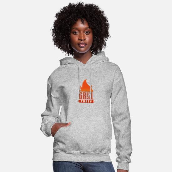 Bbq Season Hoodies & Sweatshirts - GRILLING PARTY - Women's Hoodie heather gray