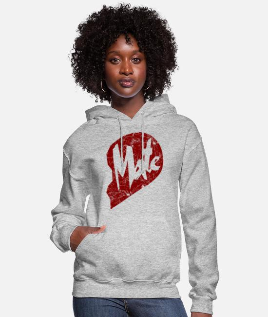 Mate Hoodies & Sweatshirts - mate - couple - Women's Hoodie heather gray