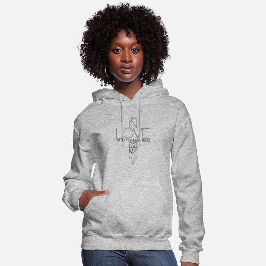 Christian Hoodies & Sweatshirts - CHRISTIANITY LOVE JESUS DIED FOR ME CHRISTIAN GIRL - Women's Hoodie heather gray