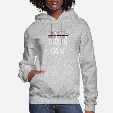 Satire Cousin Crew Cute Bunny Rabbit Matching Easter Day - Women's Hoodie