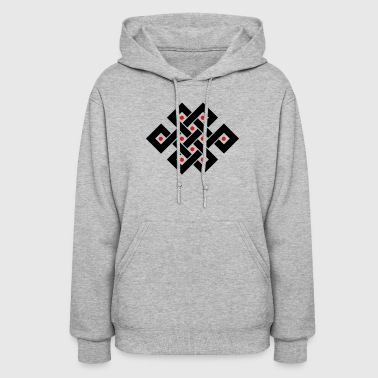 Tibetan endless knot, eternal, infinity, celtic - Women's Hoodie