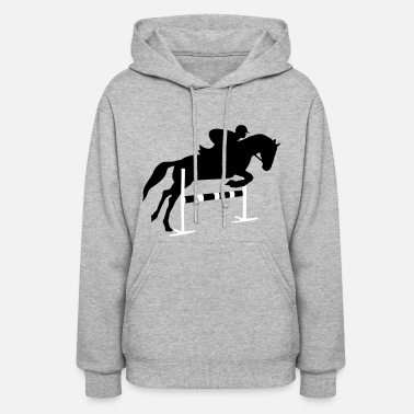 Jumping Riding, horse, equestrian - Women's Hoodie
