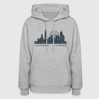Chicago Illinois Skyline Architecture Souvenir - Women's Hoodie