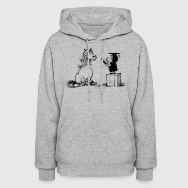 Thelwell Pony Learning At School Teacher - Women's Hoodie