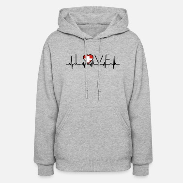 Swiss home roots heart love heimat Schweiz - Women's Hoodie