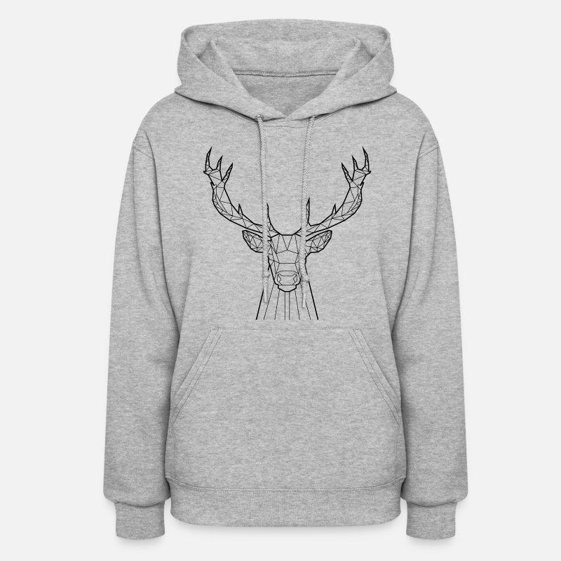 b9a059ce0c Women s HoodieBlack Deer - Animal Prism. Yorkmout US