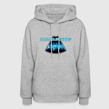 Sound Waves Blue Ultrasound Sound Wave - Women's Hoodie