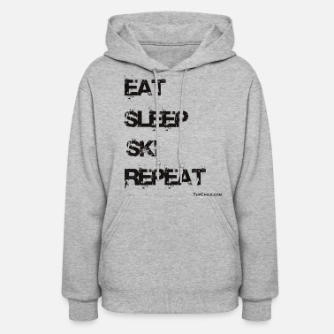 Eat Sleep Ski Repeat TC bw - Women's Hoodie