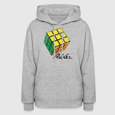Rubik's Cube Solved Colourful Vintage - Women's Hoodie