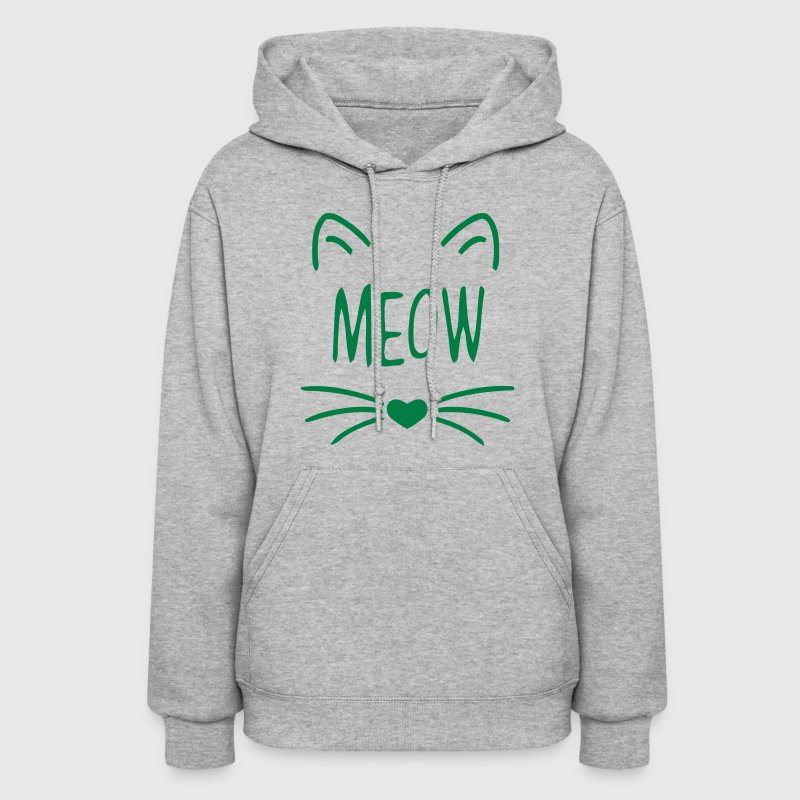 MEOW CAT FACE - Women's Hoodie