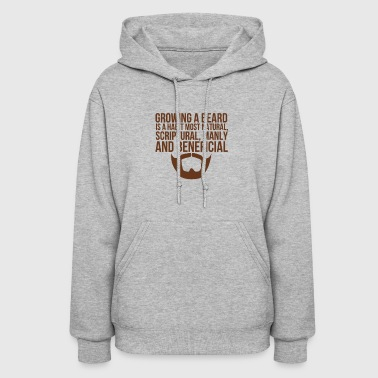 Beards Manly Beneficial - Women's Hoodie