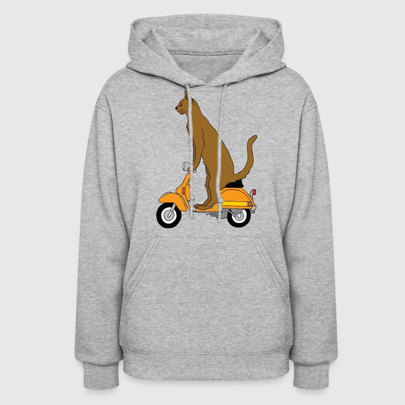 cat on motor scooter - Women's Hoodie