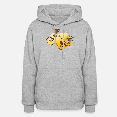 Coffee Bean octopus coffee barista with coffee beans - Women's Hoodie