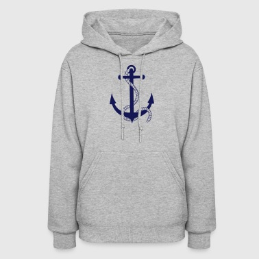 anchor ship boat harbour sailing captain sea - Women's Hoodie