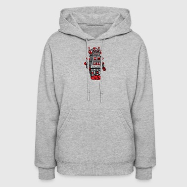 Retro Metal Toy Robot - Women's Hoodie