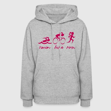 Swim Bike Run Girl - Women's Hoodie