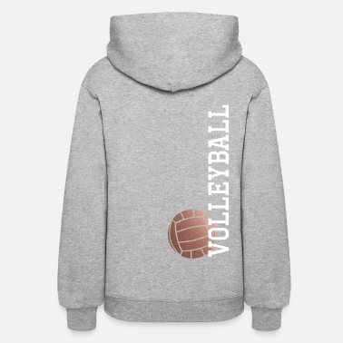Volleyball Vertical Rose Gold Volleyball - Women's Hoodie