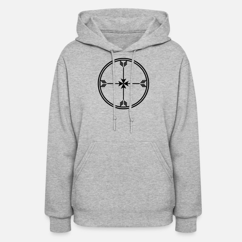 Archery Hoodies & Sweatshirts - Sioux medicine wheel, arrows Spirit, enlightenment - Women's Hoodie heather gray