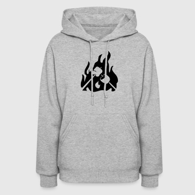 Marshmallow on campfire - Women's Hoodie
