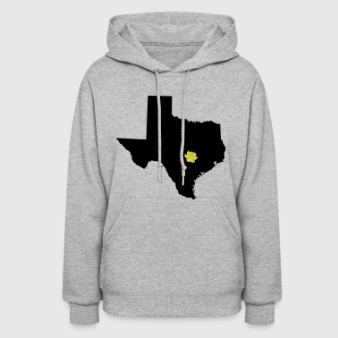 Texas and Yellow Rose on Austin Capital - Women's Hoodie
