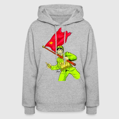 Chinese Soldier With Grenade - Women's Hoodie
