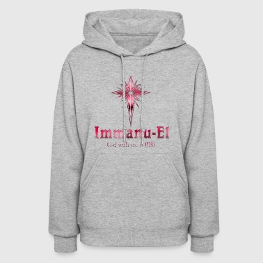 Immanu-El G-d is with us. (OJB) Pink - Women's Hoodie
