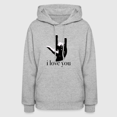 sign language I love you - Women's Hoodie