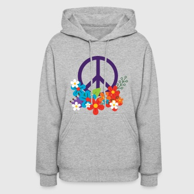 Hippie Peace Design - Women's Hoodie
