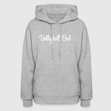 Cursive Volleyball Girl - Women's Hoodie