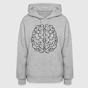 Brain Intelligence Intelligent Thinking Thoughts - Women's Hoodie
