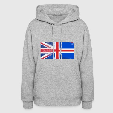 British Icelander Half Iceland Half UK Flag - Women's Hoodie