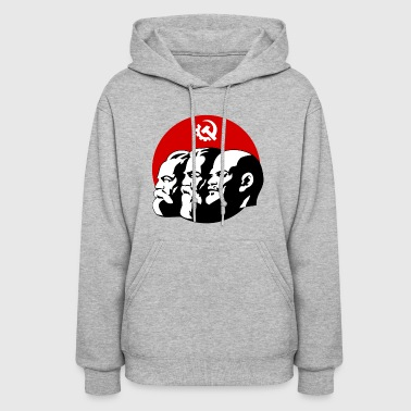 marx lenin russia retro symbol revolution anti lol - Women's Hoodie