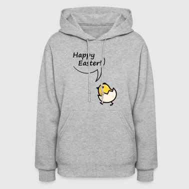 Happy Easter Funny little yellow chick t-shirt - Women's Hoodie