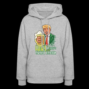 Funny St Patricks Day Leprechaun Party gift Paddy - Women's Hoodie