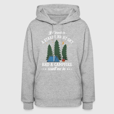 Funny Starry Night Sky Campfire Camping Party Gift - Women's Hoodie