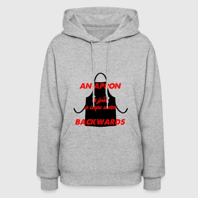 an apron is a cape - Women's Hoodie