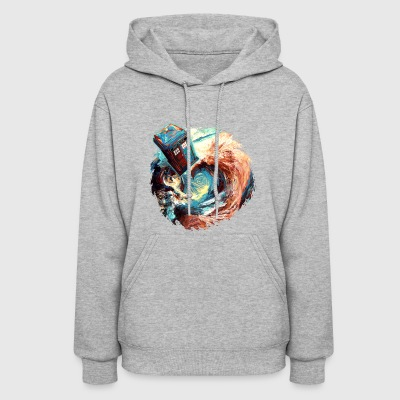 time travel phone box jump into dark vortex - Women's Hoodie