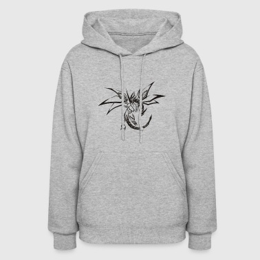 Mythical Fantasy Dreaming Dragon - Women's Hoodie