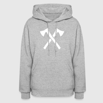 Crossed Axes funny tshirt - Women's Hoodie