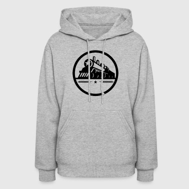 Steam Train Locomotive Star Circle - Women's Hoodie