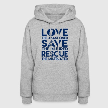Dog Rescue Tee Animal Cat Rescue - Women's Hoodie