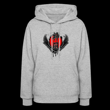 Samurai Swords And Hieroglyph Of Kamikaze - Women's Hoodie