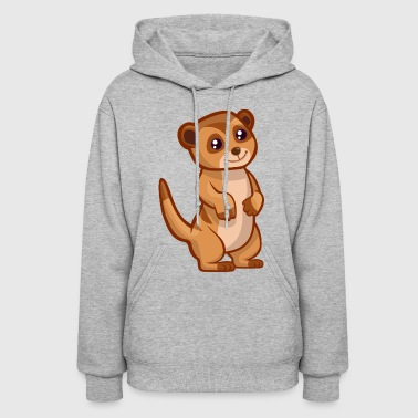 Meercat Suricate Cat Animal Africa Zoo Cute - Women's Hoodie